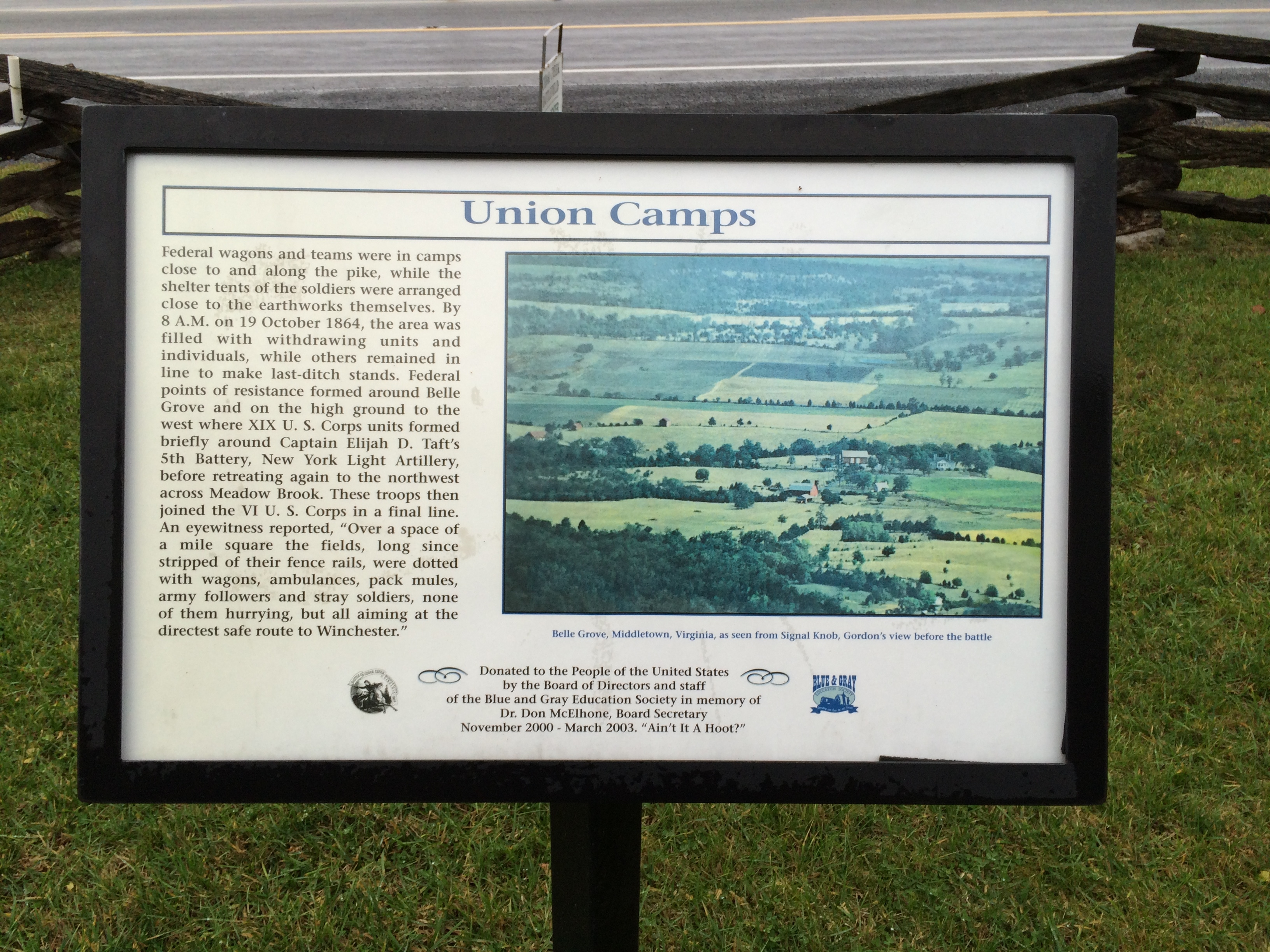 Union Camps Marker