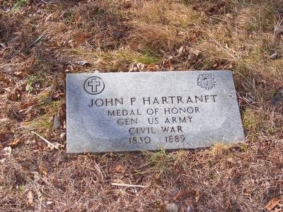 John F. Hartranft Medal of Honor Marker image. Click for full size.