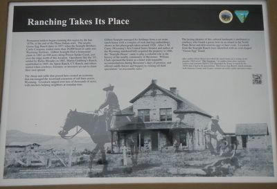 Ranching Takes Its Place Marker image. Click for full size.