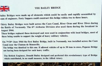 The Bailey Bridge Marker image. Click for full size.