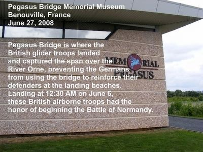 Pegasus Bridge Memorial Museum image. Click for full size.