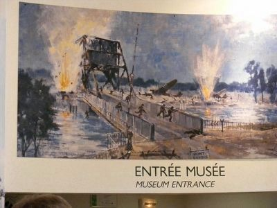 Pegasus Bridge image at the Museum entrance. image. Click for full size.
