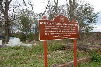 Iberville African-American Cemetery Marker image. Click for full size.