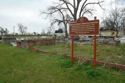 Iberville African-American Cemetery and Marker image. Click for full size.