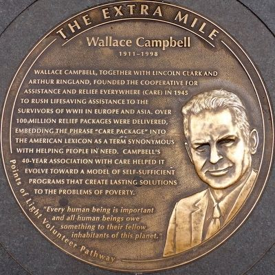 Wallace Campbell 1911 - 1998 Marker image. Click for full size.