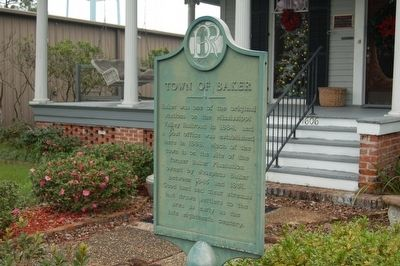 Town Of Baker Marker image. Click for full size.