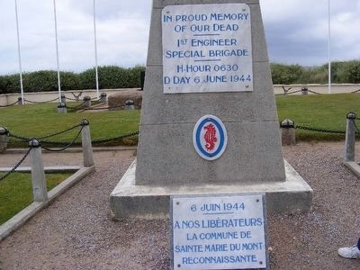 In Proud Memory of Our Dead-1st Engineer Special Brigade-H-Hour 0630 D-Day 6 June 1944 image. Click for full size.