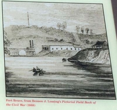 Fort Bruce (Photo taken of marker) image. Click for full size.