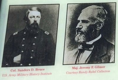 Colonel Bruce and Major Gilmer image. Click for full size.