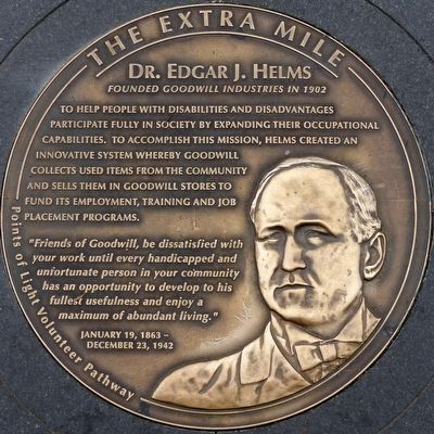 Dr. Edgar J. Helms Marker image. Click for full size.