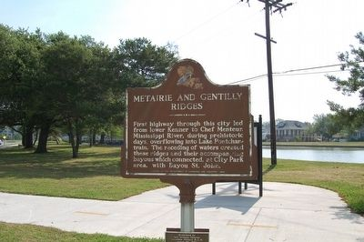 Metairie And Gentilly Ridges Marker image. Click for full size.