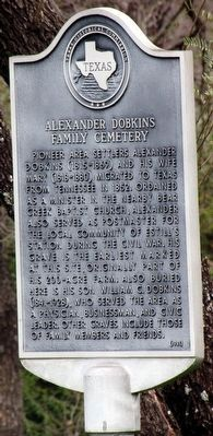 Alexander Dobkins Family Cemetery Marker image. Click for full size.