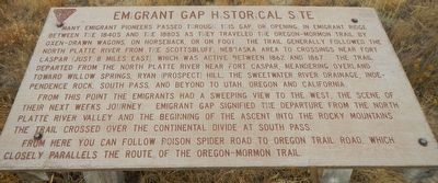 Emigrant Gap Historical Site Marker image. Click for full size.