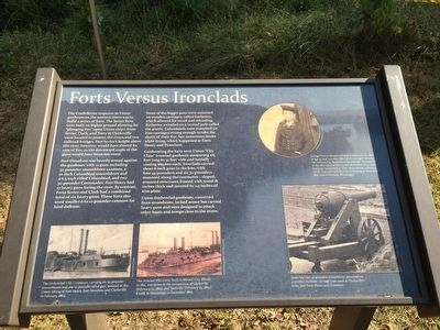 Forts Versus Ironclads Marker image. Click for full size.