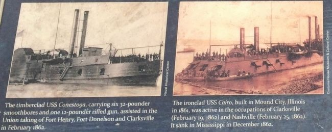 Photos of ironclads from marker. image. Click for full size.