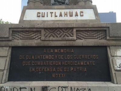 Monument to Cuahtémoc and His Warriors Marker image. Click for full size.