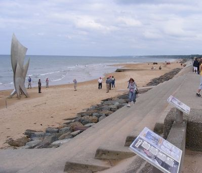 Remember Omaha Beach Marker image. Click for full size.