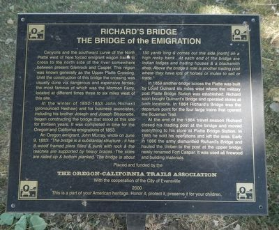 Richard's Bridge Marker image. Click for full size.