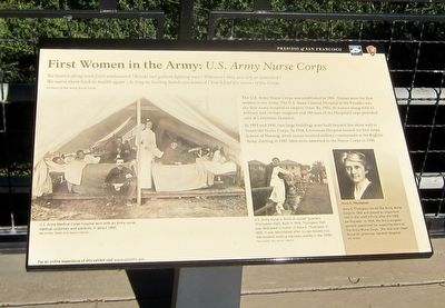 First Women in the Army: <i>U.S. Army Nurse Corps</i> Marker image. Click for full size.