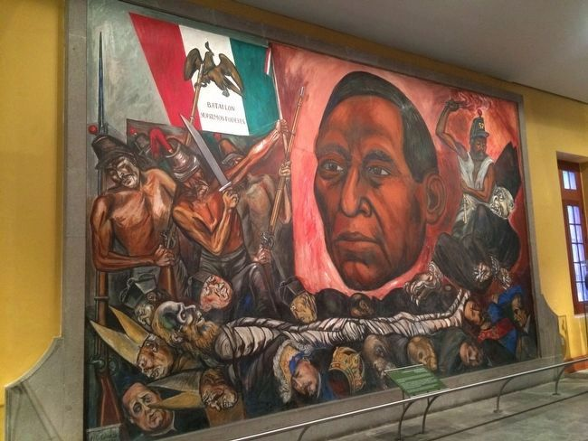 Benito Juárez Revived by José Clemente Orozco, 1948. image. Click for full size.