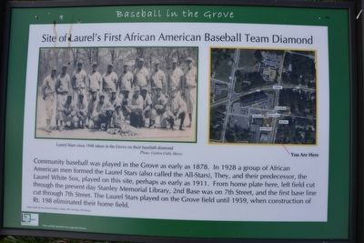 Baseball in the Grove Marker image. Click for full size.