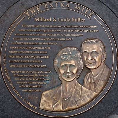 Millard and Linda Fuller Marker image. Click for full size.