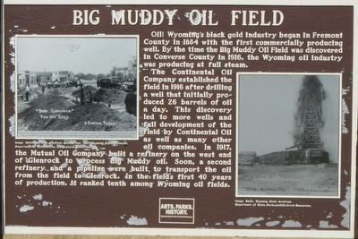 Big Muddy Oil Field Marker image. Click for full size.