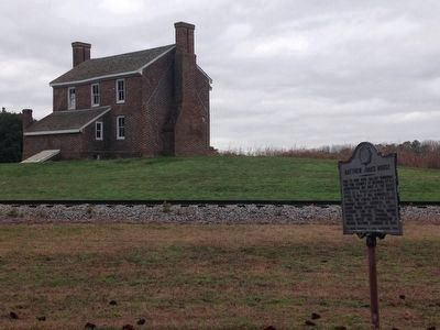 Matthew Jones House and Marker image. Click for full size.