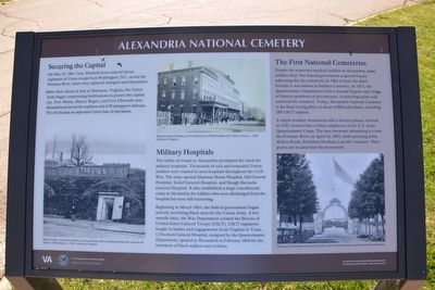 Alexandria National Cemetery Marker image. Click for full size.