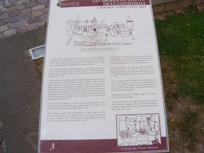 Les Abords du Chevet de la Cathedrale Marker image. Click for full size.