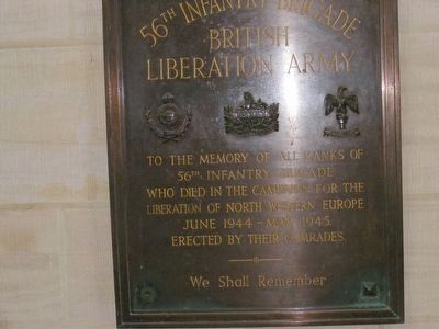 Notre Dame Cathedral-Memorial to the 56th Infantry Brigade-British Liberation Army image. Click for full size.
