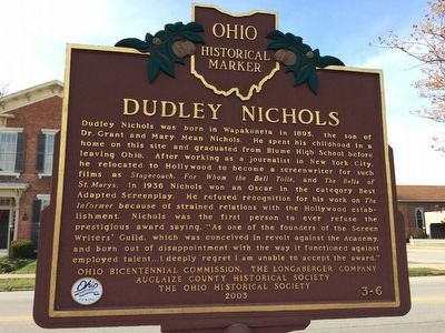 Dudley Nichols Marker image. Click for full size.