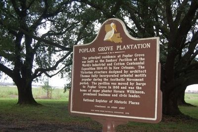 Poplar Grove Plantation Marker image. Click for full size.