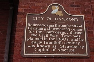 City Of Hammond Marker image. Click for full size.