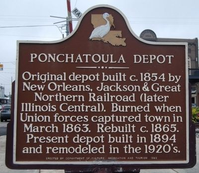 Ponchatoula Depot Marker image. Click for full size.