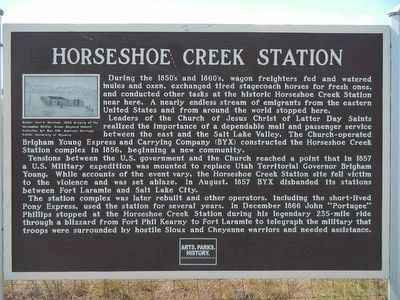 Horseshoe Creek Station Marker image. Click for full size.