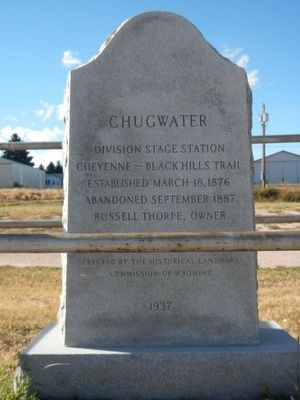 Chugwater Marker image. Click for full size.