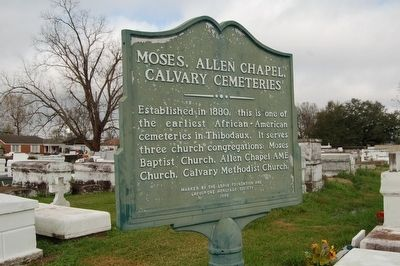 Moses, Allen Chapel, Calvary Cemeteries Marker image. Click for full size.