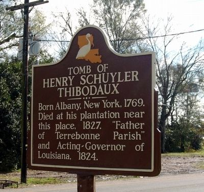 Tomb Of Henry Schuyler Thibodaux Marker image. Click for full size.