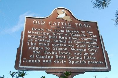 Old Cattle Trail Marker image. Click for full size.