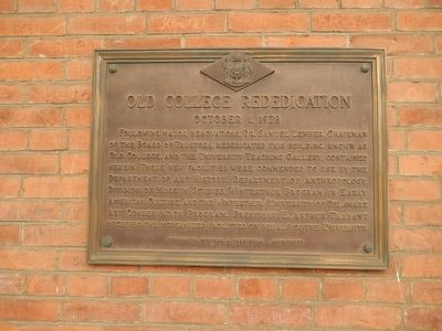 Old College Rededication image. Click for full size.