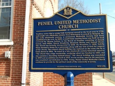 Peniel United Methodist Church Marker image. Click for full size.