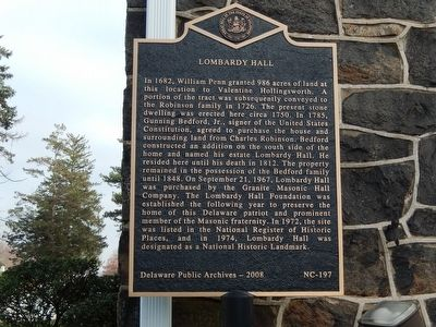 Lombardy Hall Marker image. Click for full size.