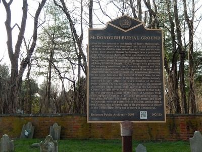McDonough Burial Ground Marker image. Click for full size.