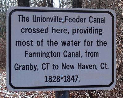 Unionville Feeder Canal Marker image. Click for full size.