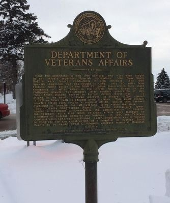 Department of Veterans Affairs Marker image. Click for full size.