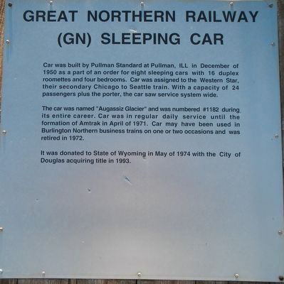 Great Northern Railway (GN) Sleeping Car Marker image. Click for full size.