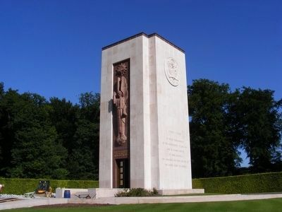 Luxembourg American Cemetery and Memorial Marker-side view image. Click for full size.
