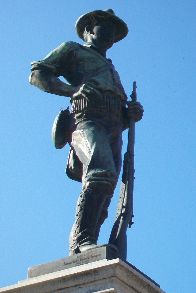 Oakdale Memorial Gateway Spanish War Soldier