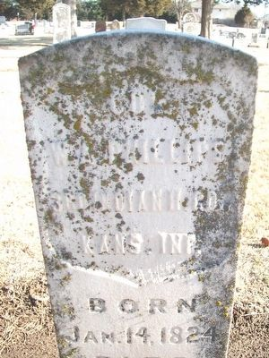 Col. William A. Phillips Grave Marker image. Click for full size.